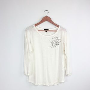 J. Crew decorative jeweled blouse